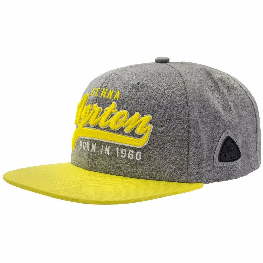 Ayrton Senna Authentic Gray Legendary Flat Brim Hat