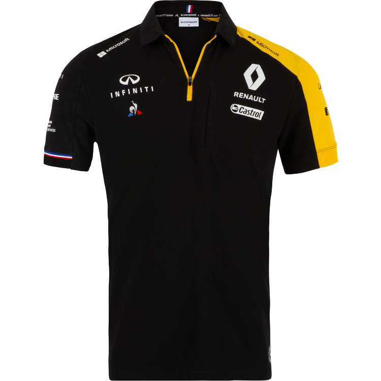 Renault F1 2019 Men's Team Polo Black