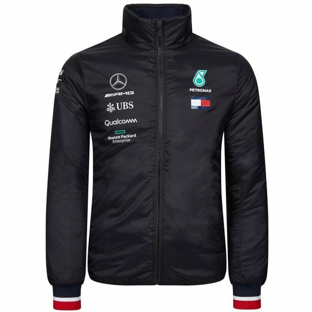 Mercedes AMG Petronas Motorsport 2019 F1 Team Padded Jacket Black