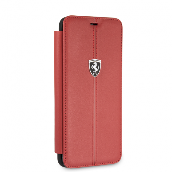 FERRARI GENUINE RED LEATHER HERITAGE BOOKSTYLE CASE