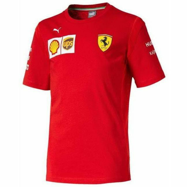 Kid's Scuderia Ferrari 2019 F1 Team T-Shirt Red