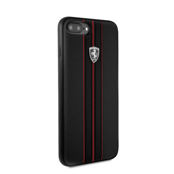FERRARI OFF TRACK COLLECTION BLACK PU LEATHER W/ RED STITCHING HARD CASE