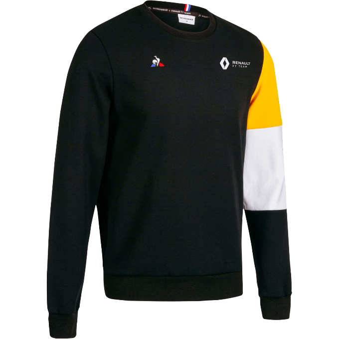 (PRE-ORDER) Renault F1 Men's Team Fan Crew Sweatshirt Black
