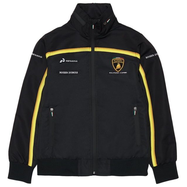 Automobili Lamborghini Gold 2019 Men's Black Windbreaker