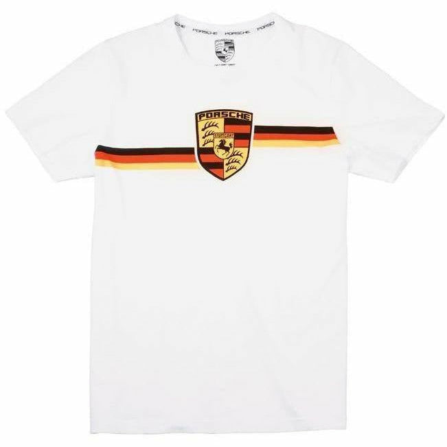 Porsche Collector's White T-Shirt with Crest