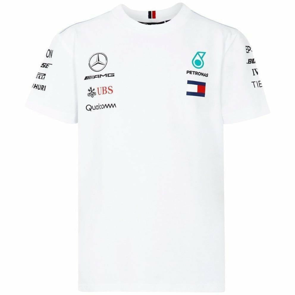 Mercedes Benz AMG Petronas Kids White Authentic 2018 F1 Team T-Shirt