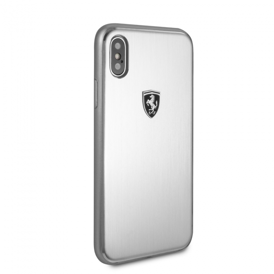 FERRARI BRUSHED ALUMINIUM IPHONE X HERITAGE CASE