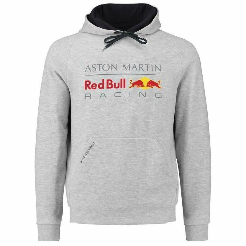 Red Bull Racing Aston Martin Formula 1 Men Gray Authentic Pull Over Hoodie