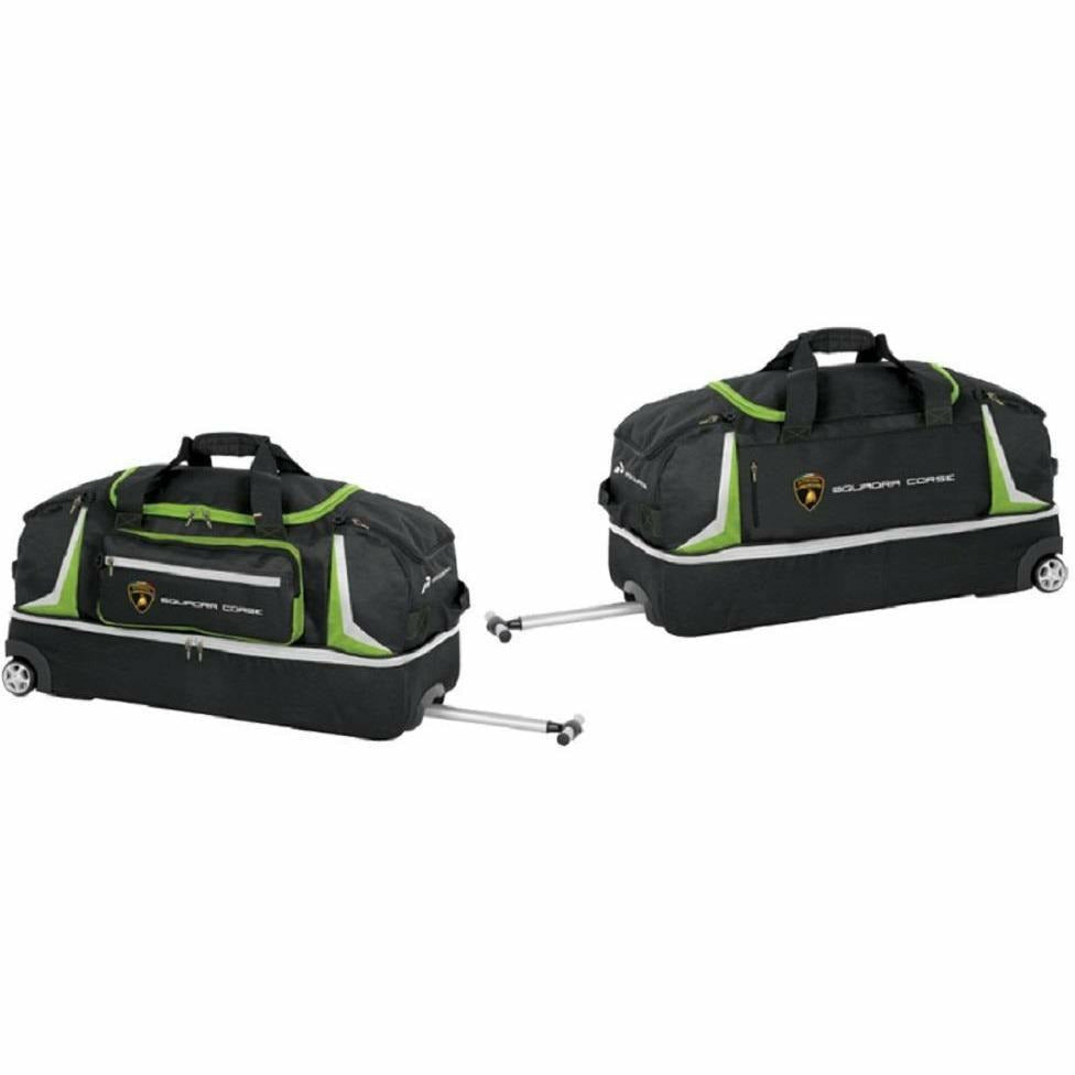 Automobili Lamborghini Squadra Corse 2019 Wheeled Bag Black-Lime