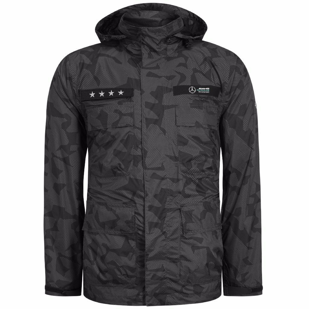 Mercedes AMG Petronas Motorsport Men's F1 Camo Performance Jacket
