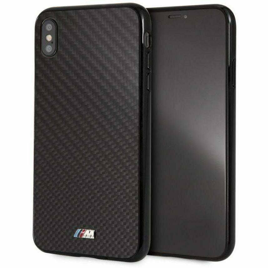 BMW Real Black Carbon Fiber Hard Case with M Logo, iPhone XS Max