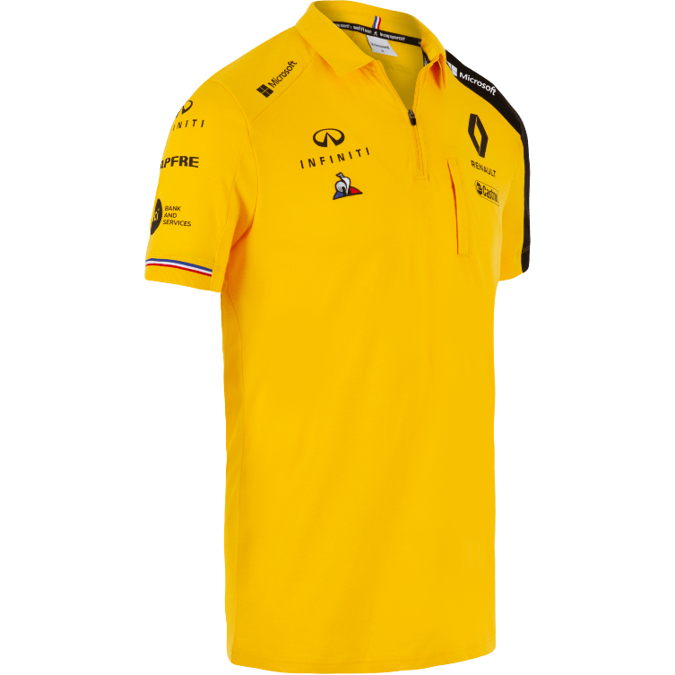 Renault F1 2019 Men's Team Polo Yellow