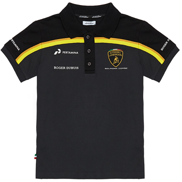 Automobili Lamborghini Gold 2019 Kids Black Polo