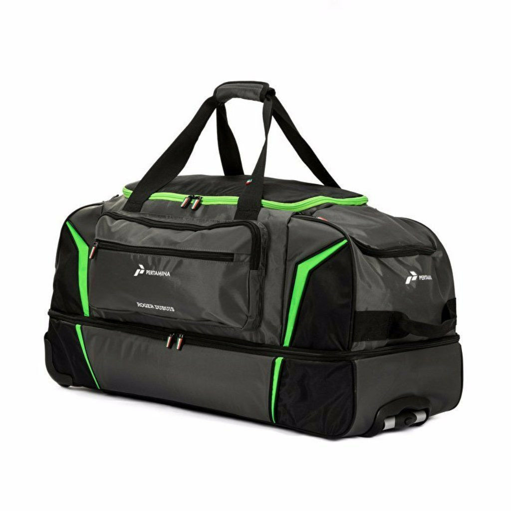 Automobili Lamborghini Squadra Corse 2019 Sporty Carryall Bag on Wheels Black/Lime