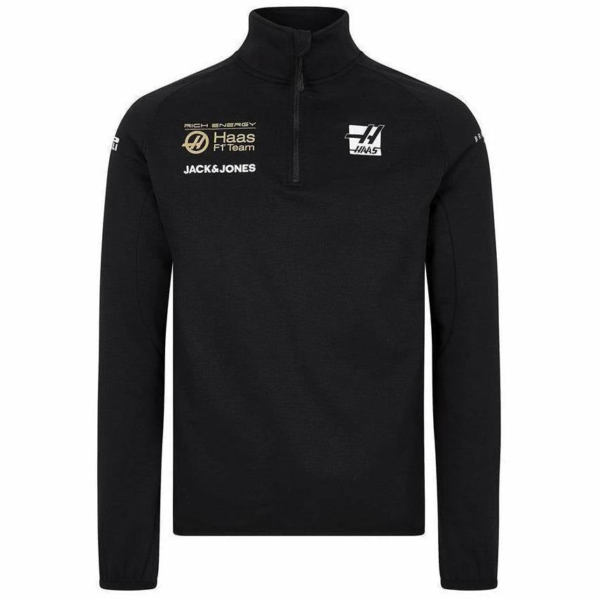 Rich Energy Haas 2019 F1 Team Half Zip Sweatshirt Black