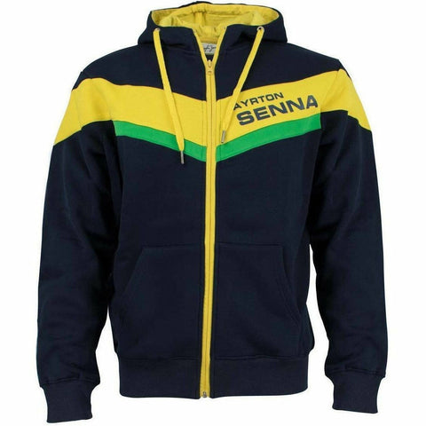 Ayrton Senna Authentic Racing Hoodie Jacket