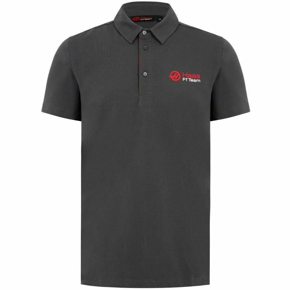 Haas American Team Formula 1 Motorsports Authentic 2018 Gray Polo
