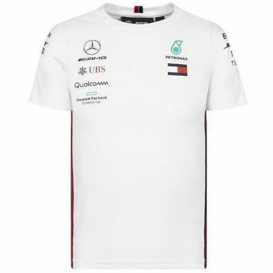 Kid's Mercedes-AMG Petronas Motorsport 2019 F1 Team T-Shirt White
