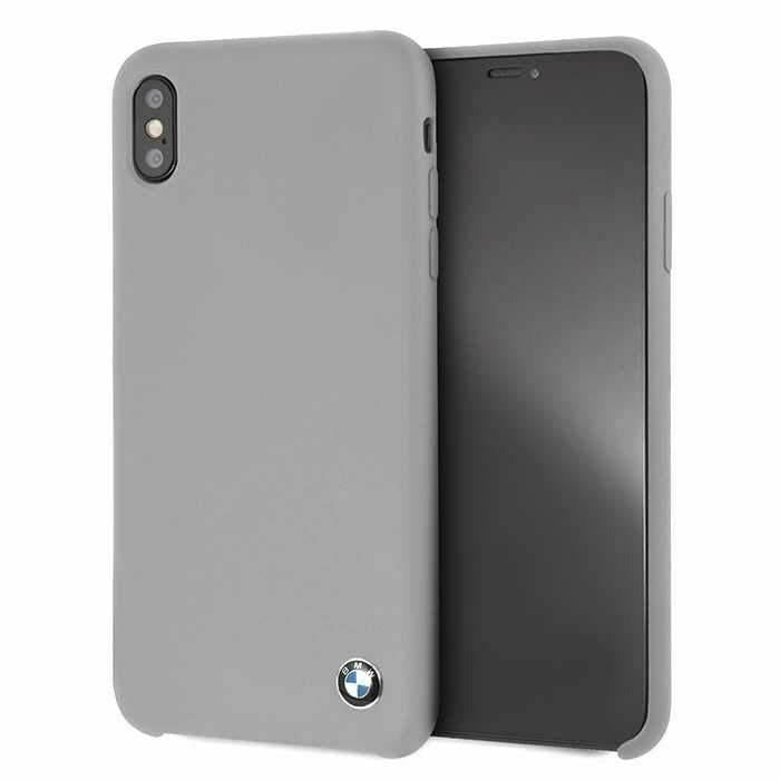 BMW Gray Silicone Hard Case, iPhone XS Max