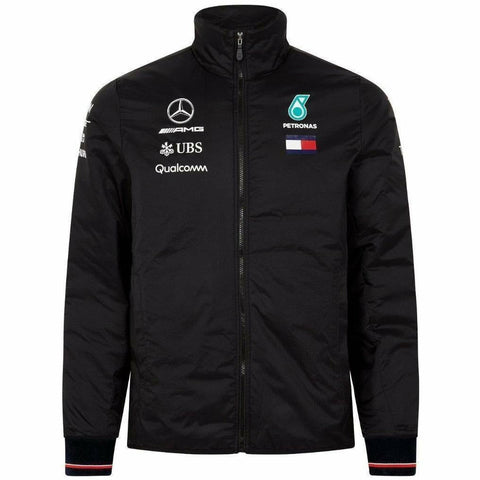 Mercedes Benz AMG Petronas Formula 1 Men's Black 2018 Lightweight Padded Jacket