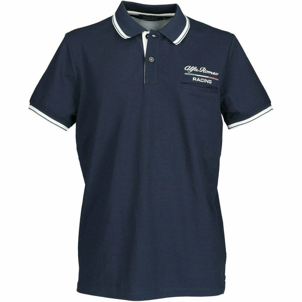 Alfa Romeo Racing F1 Men's Polo Blue