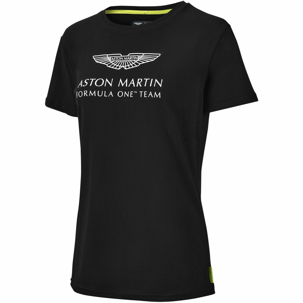 Aston Martin F1 Women's Essentials Logo T-Shirt -Black