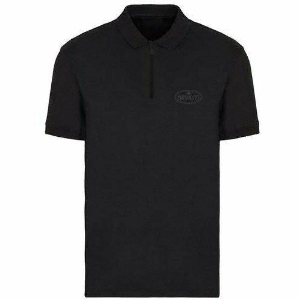 Bugatti Men's Reflective Polo Shirt Black