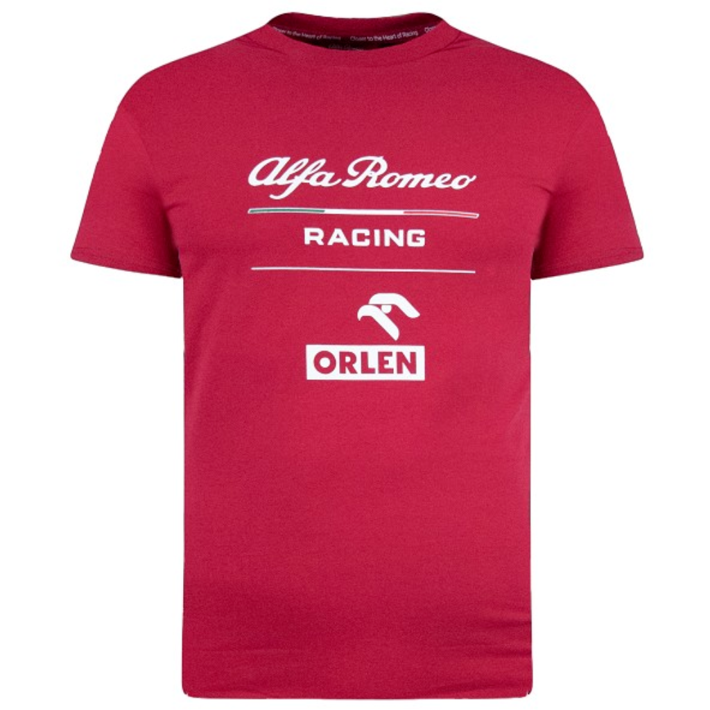 Alfa Romeo Racing F1 Men's Essential T-Shirt Red/Black