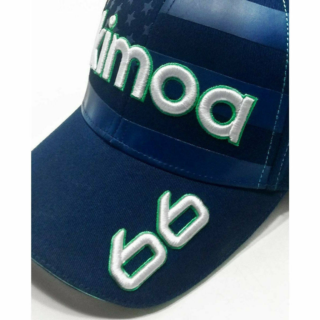 Kimoa Racing Fernando Alonso Indy 2020 Blue USA #66 Hat-Blue