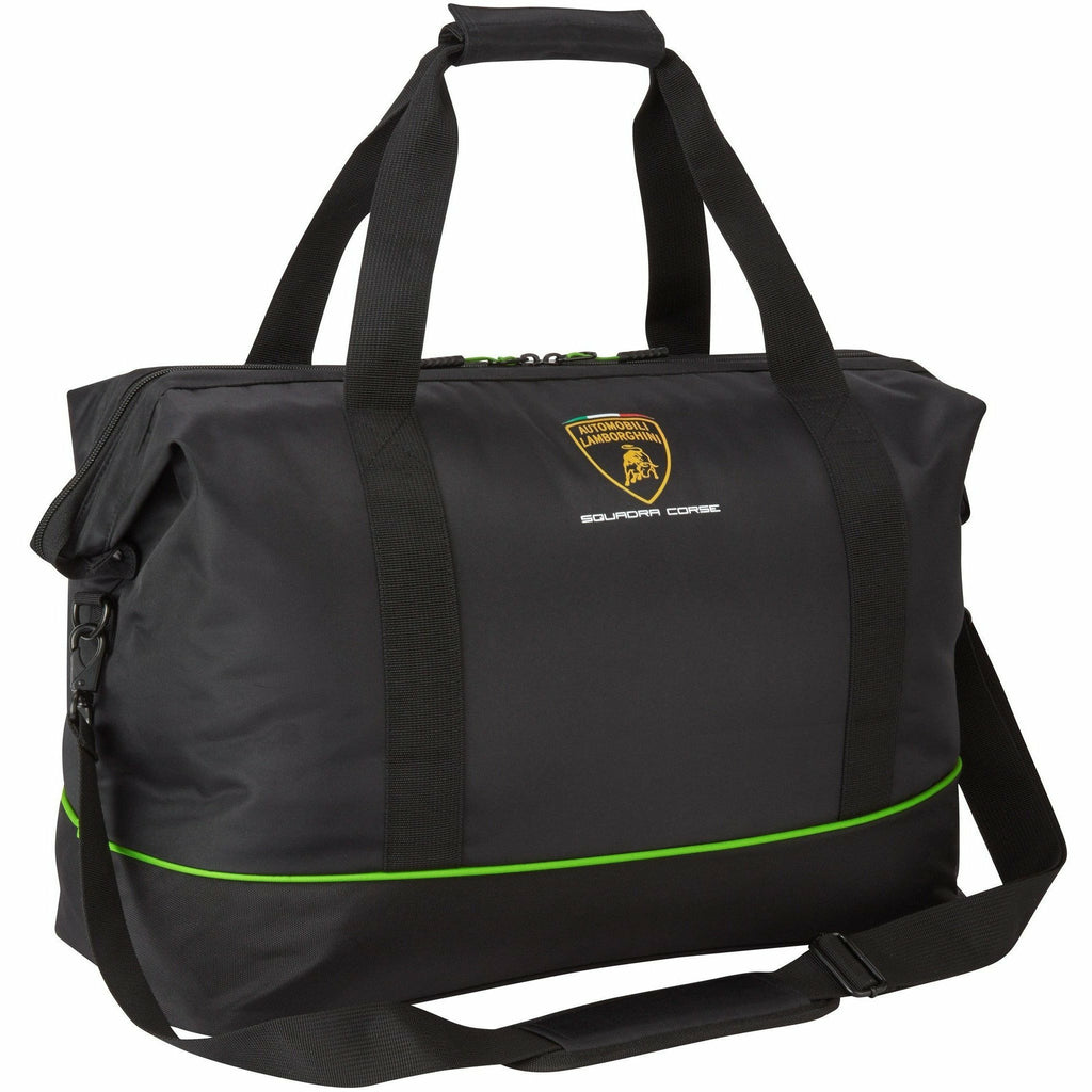 Automobili Lamborghini Squadra Corse Travel Bag Black