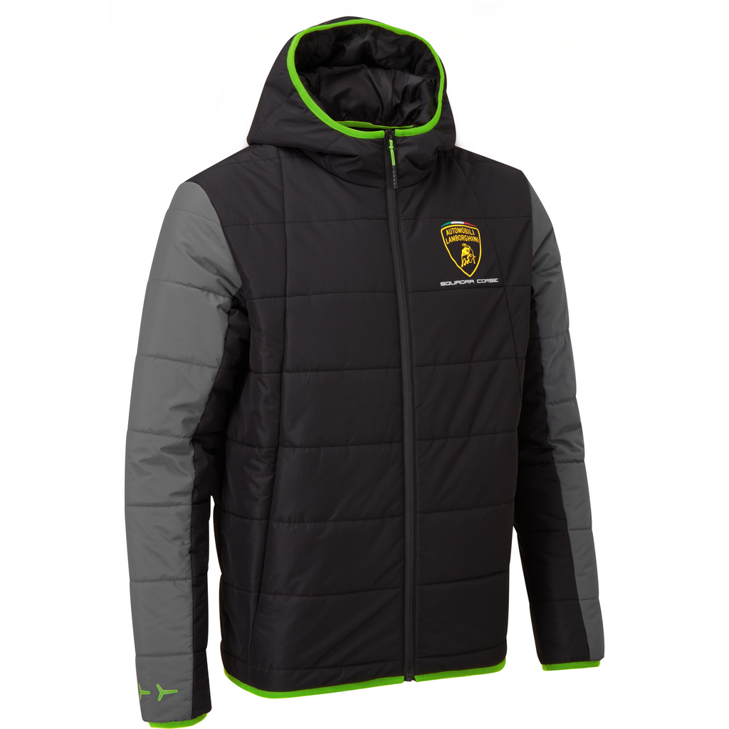 Automobili Lamborghini Squadra Corse Men's Travel Padded Jacket Black