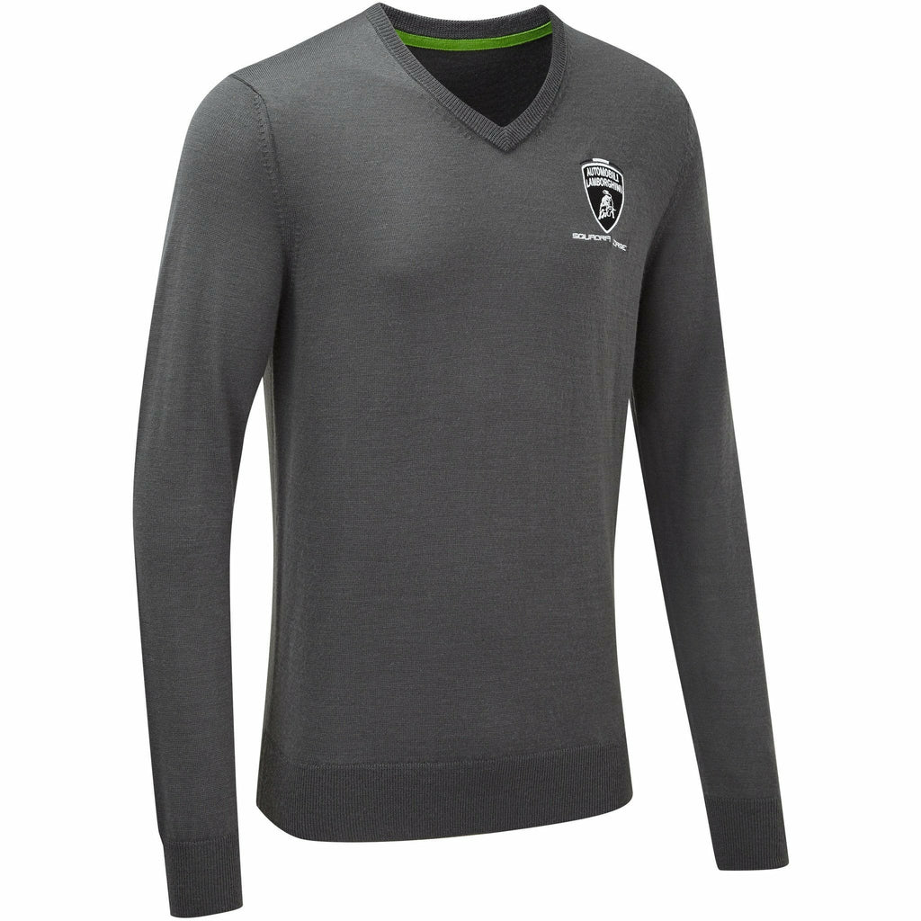 Automobili Lamborghini Squadra Corse 2020 Men's Team Knitted Sweater Gray