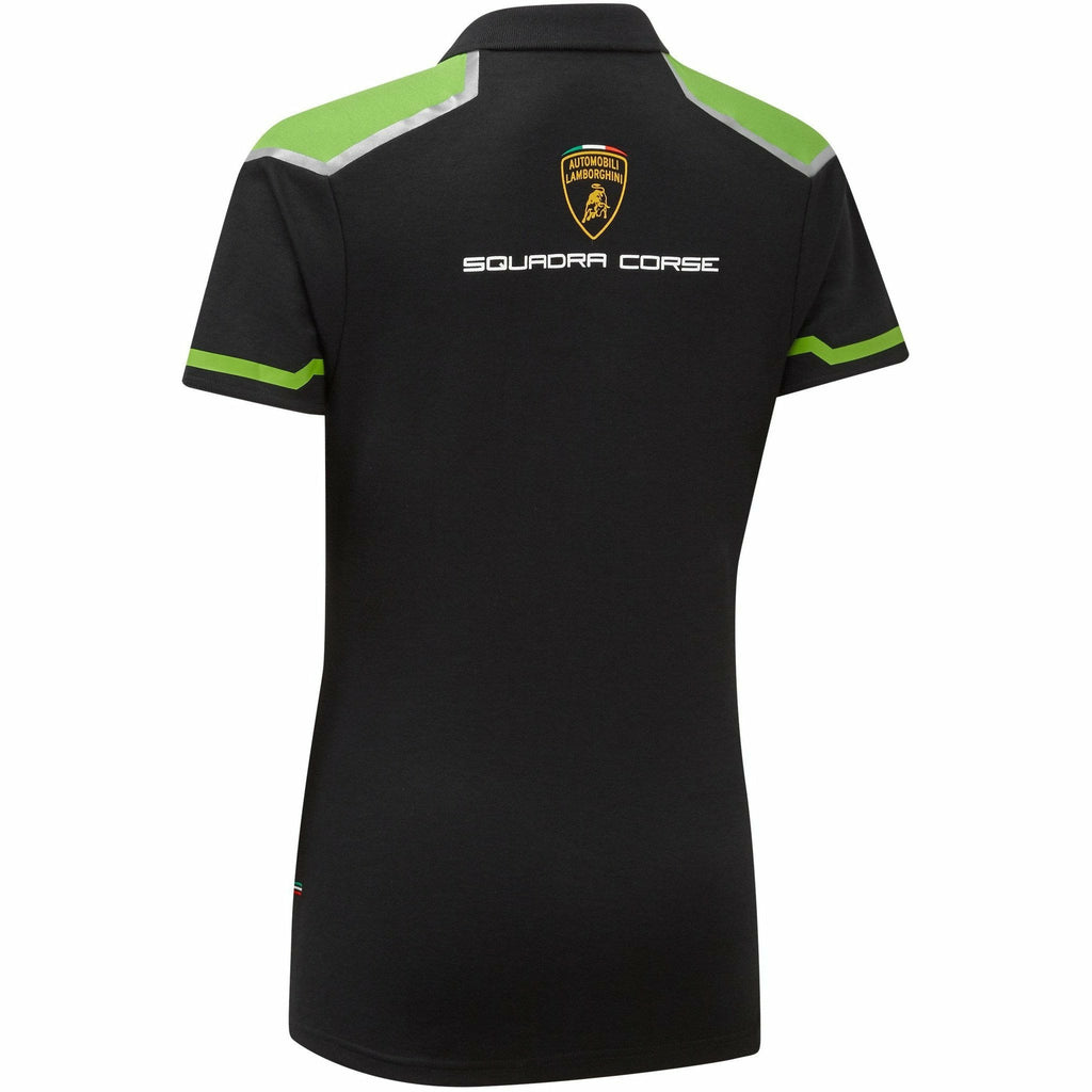 Automobili Lamborghini Squadra Corse 2020 Women's Team Polo Shirt Black