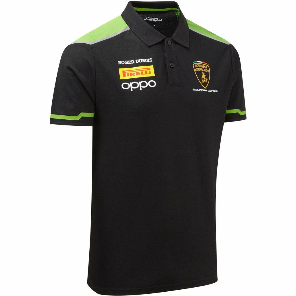 Automobili Lamborghini Squadra Corse 2020 Men's Team Polo Shirt Black