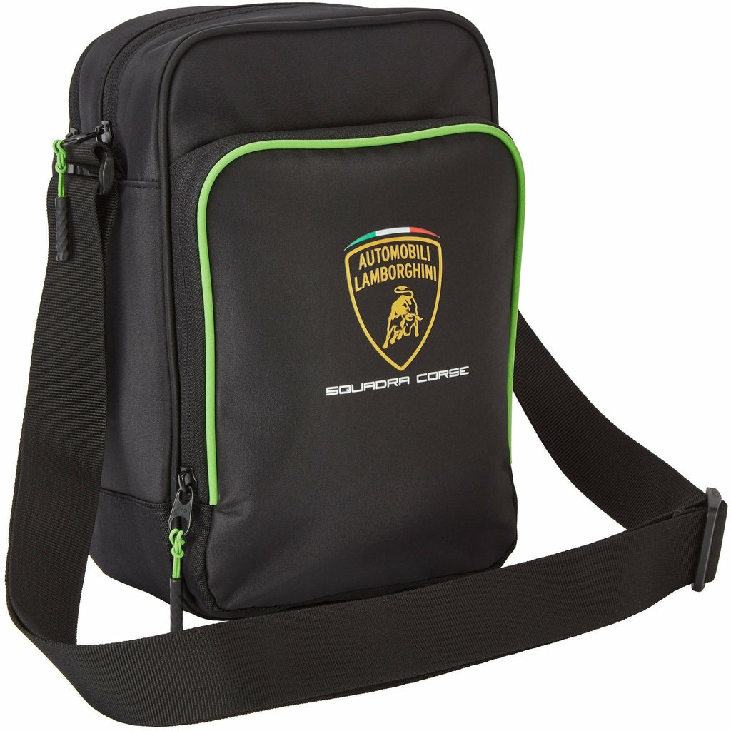 Automobili Lamborghini Squadra Corse Shoulder Bag Black