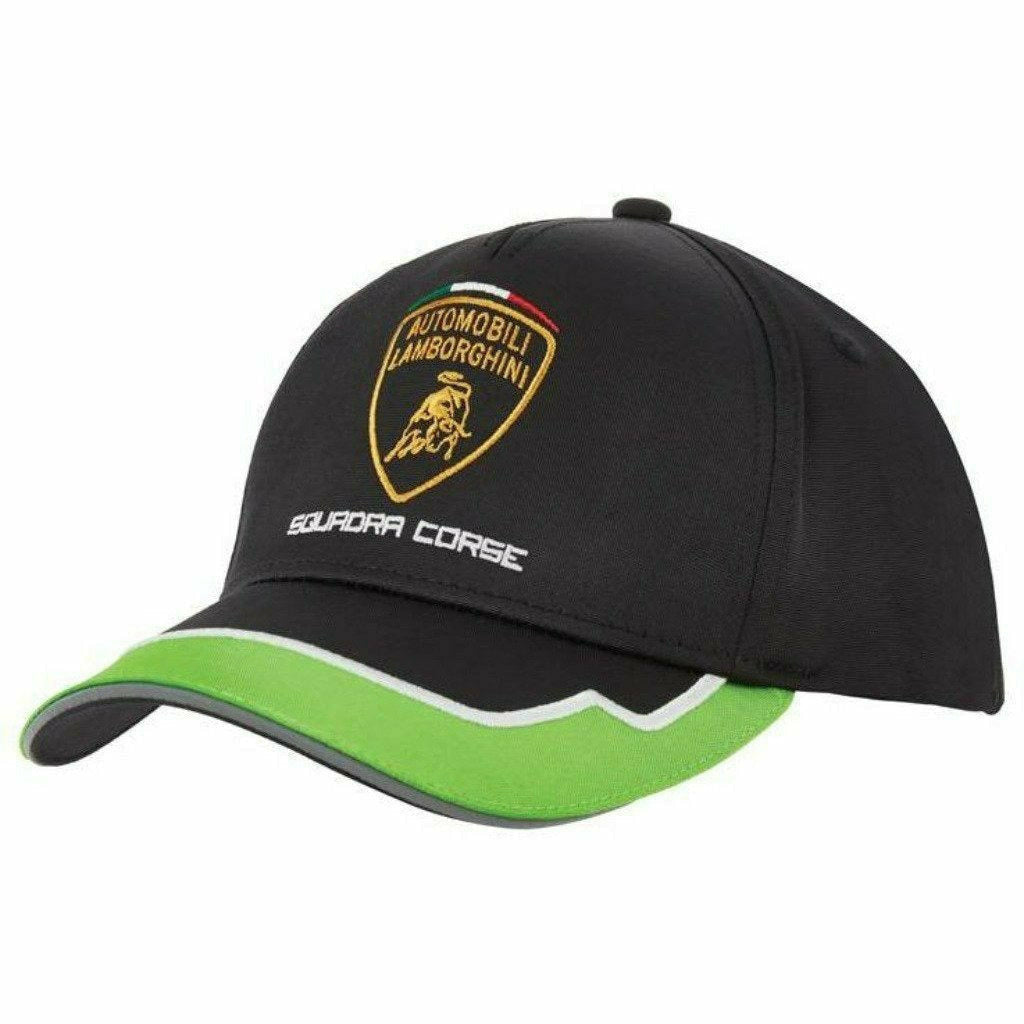 Automobili Lamborghini 2021  Squadra Corse Team Hat - Black/Green
