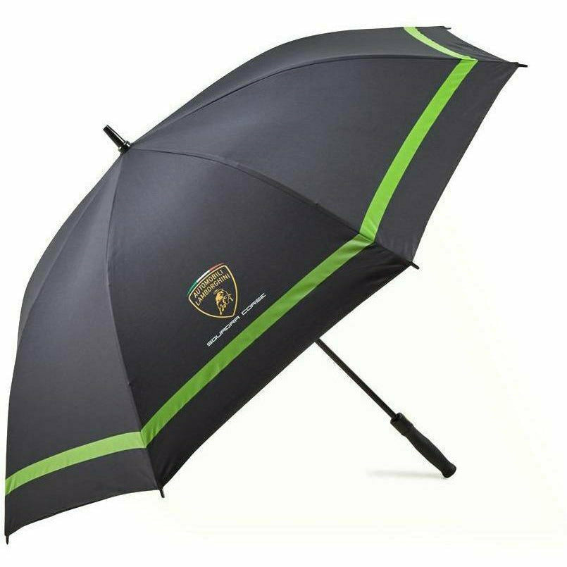Automobili Lamborghini Squadra Corse Large Golf Umbrella - Black