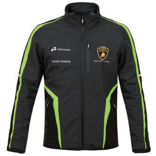 Automobili Lamborghini Squadra Corse 2019 Men's Softshell Jacket Black