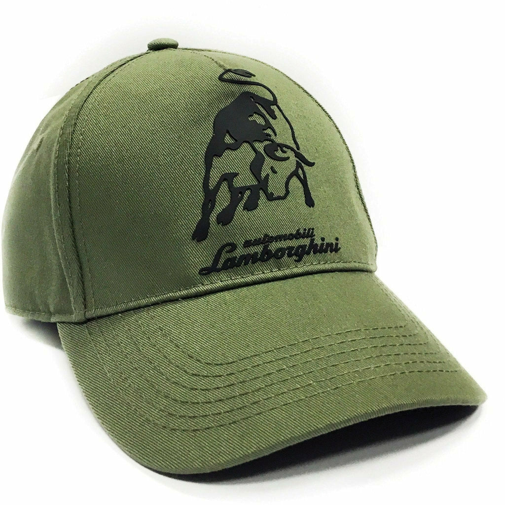 Automobili Lamborghini Adjustable Green Hat with Bull