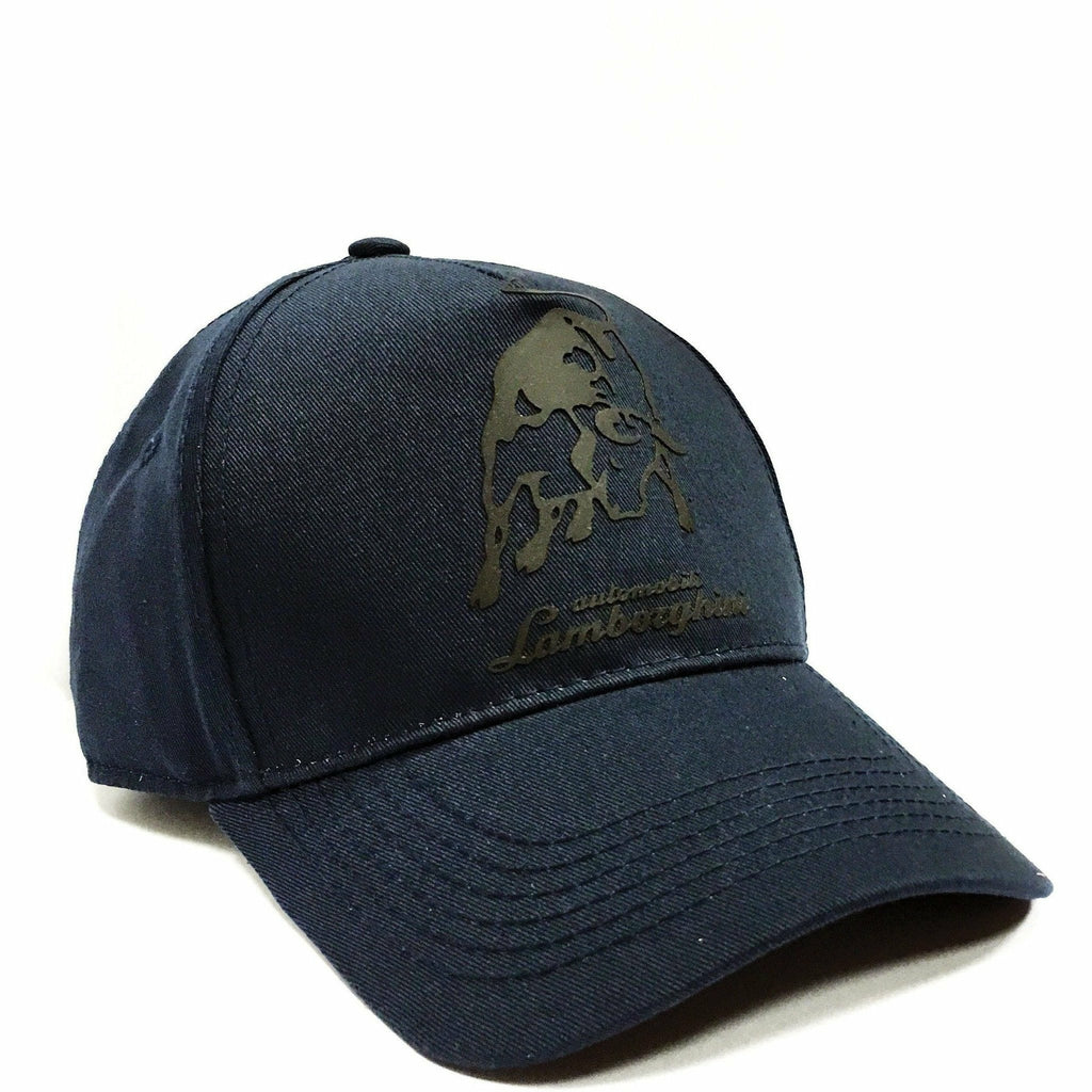 Automobili Lamborghini Adjustable Blue Hat w/Gray Bull