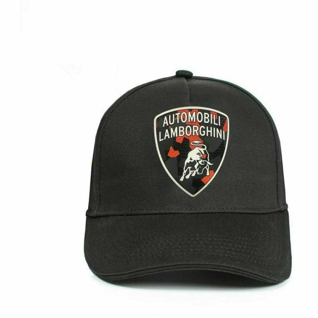 Automobili Lamborghini Camouflage Shield Hat-Black