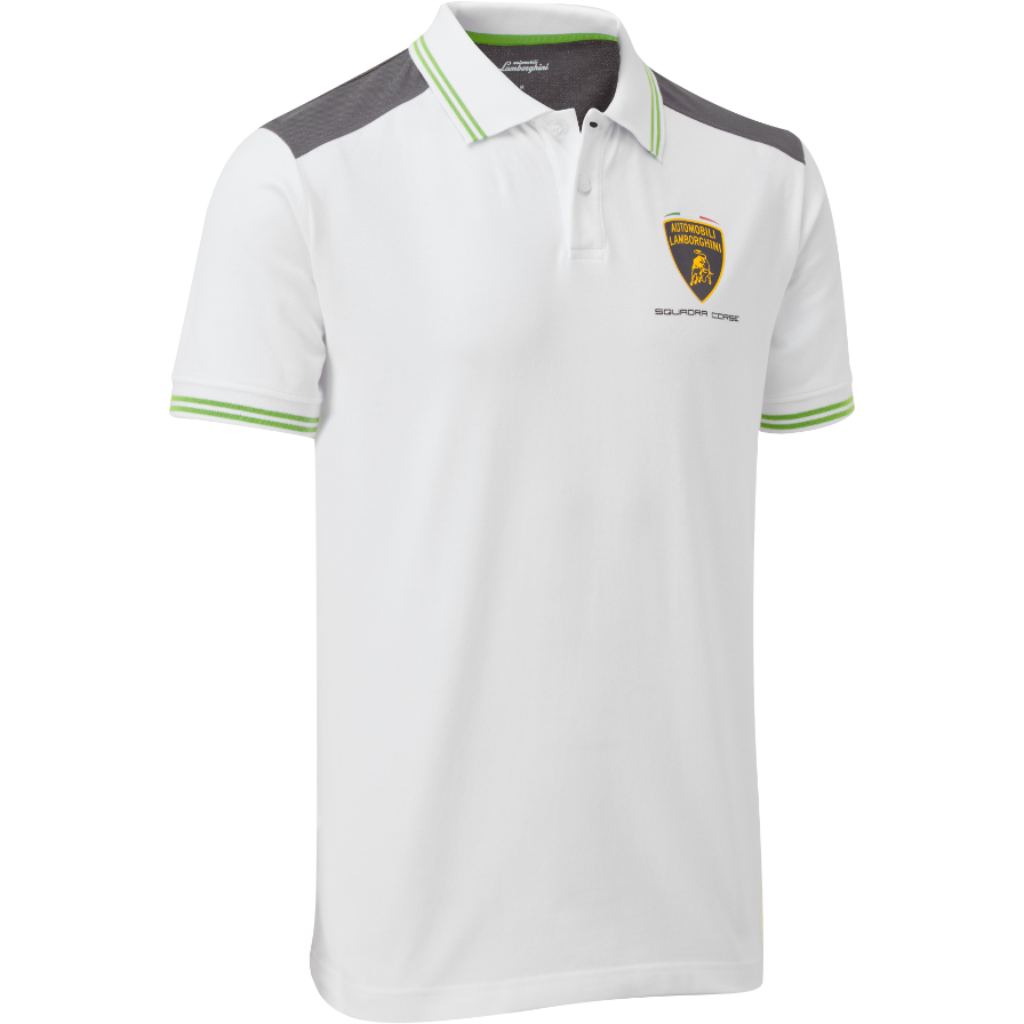 Automobili Lamborghini Men's Travel Polo Shirt White