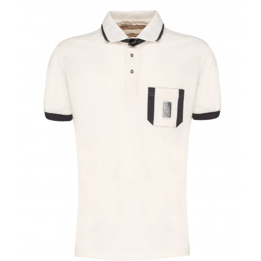 Maserati Classiche 1914 Men's Polo, Cream