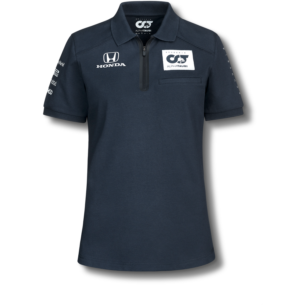 Scuderia AlphaTauri 2020 Women's Team Polo Shirt Blue/White