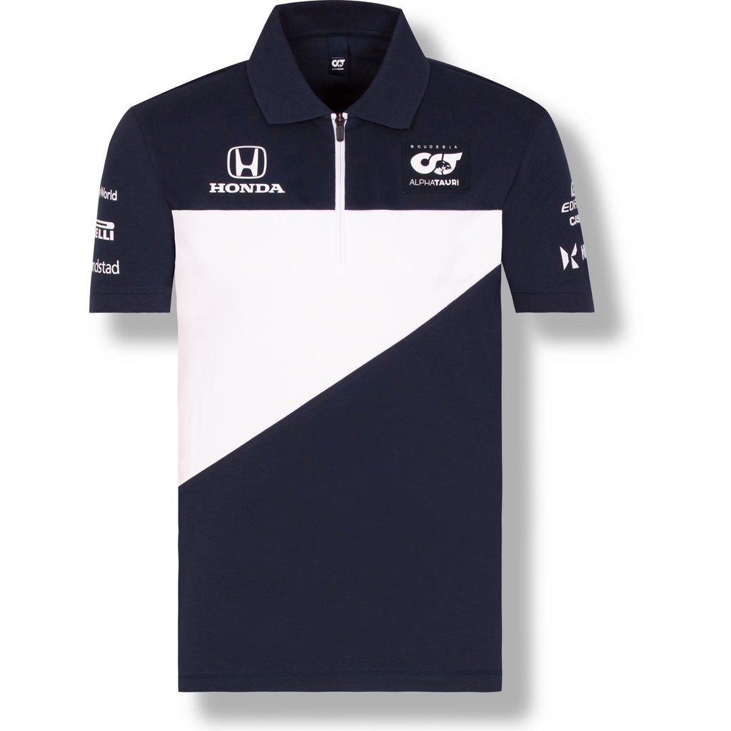 Scuderia AlphaTauri Men's 2021 Team Polo Shirt-Navy/White