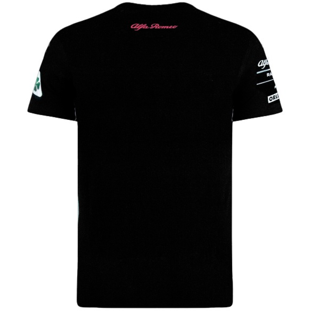 Alfa Romeo Racing F1 Men's Silver Tribute T-Shirt Black