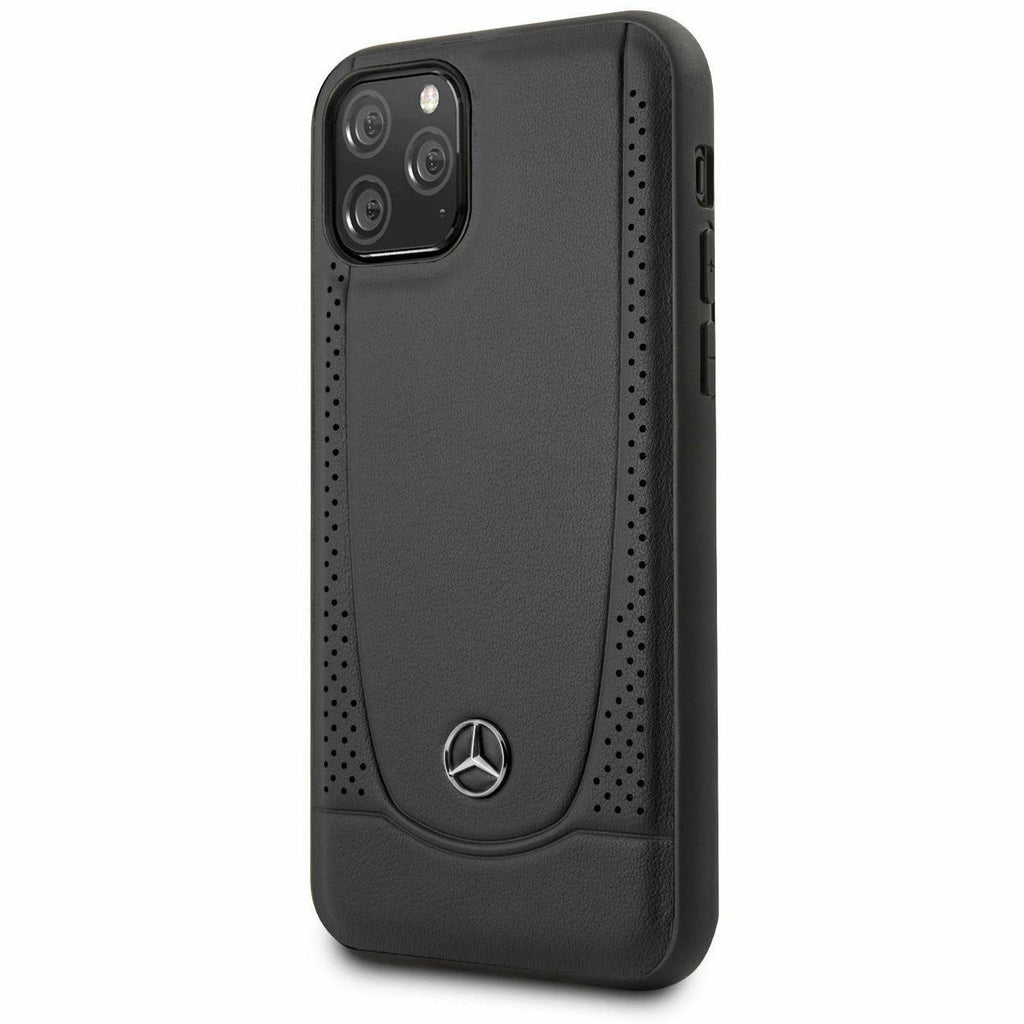 Mercedes-AMG Petronas IPHONE 11 PRO HARD CASE GENUINE LEATHER PERFORATED DESIGN