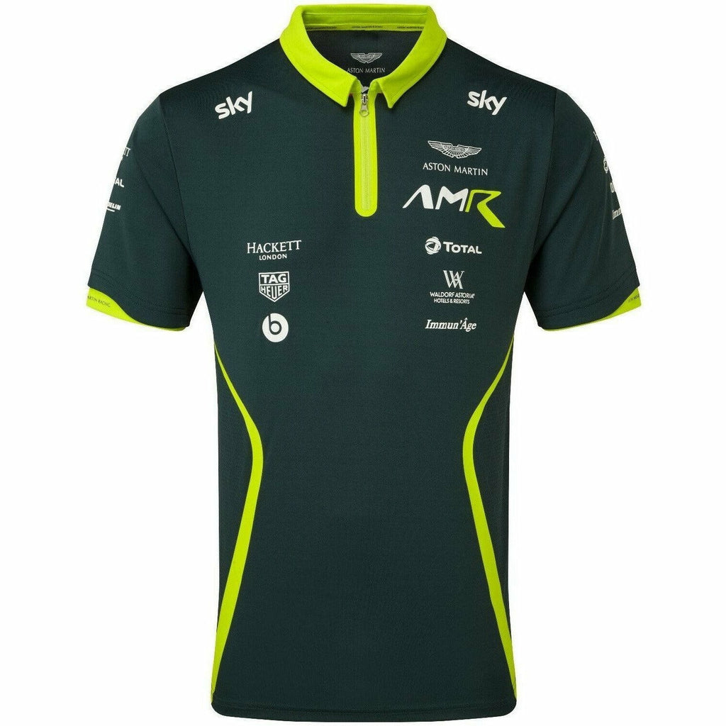 Aston Martin Racing 2020 Men's Team Polo Shirt Sterling Green
