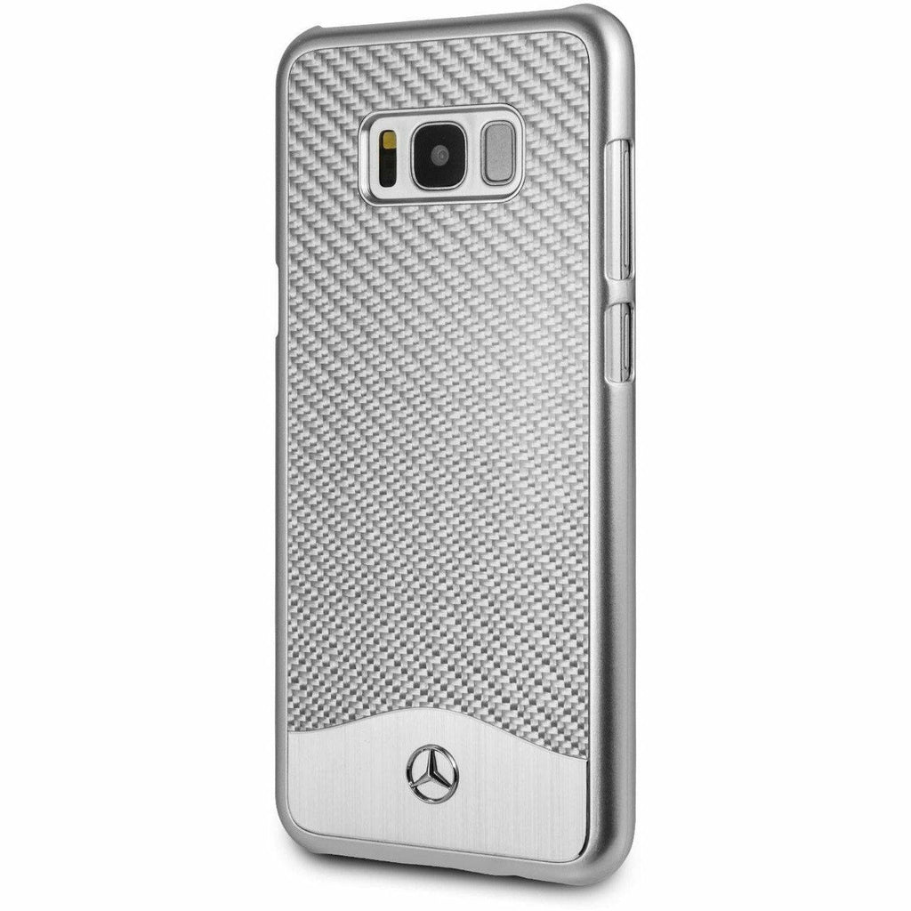 MERCEDES-BENZ REAL CARBON FIBER CASE WITH ALUMINUM PLATE - SAMSUNG GALAXY S8+