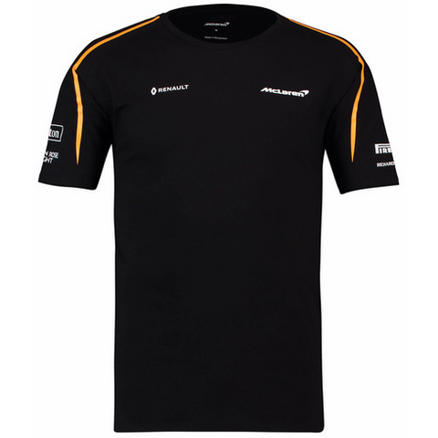 McLaren Renault Formula 1 Men's 2018 Team Set-Up Black T-Shirt